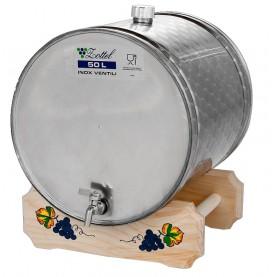 50L Ležatý nerezový sud na destilát